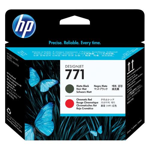 Печатающая головка HP 771 CE017A черный матовый/хроматический красный для HP DJ Z6200