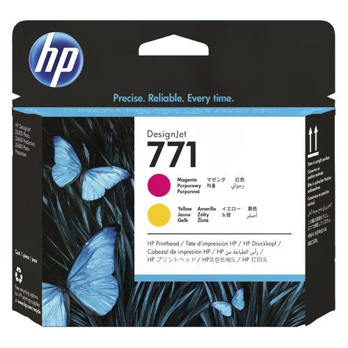 Печатающая головка HP 771 CE018A пурпурный/желтый для HP DJ Z6200