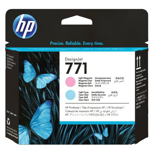 Печатающая головка HP 771 CE019A светло-голубой/светло-пурпурный для HP DJ Z6200 светло голубой цв 747