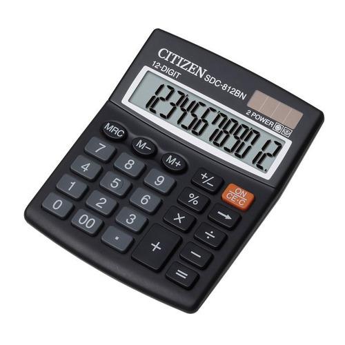 цена на Калькулятор CITIZEN SDC-812BN, 12-разрядный, черный
