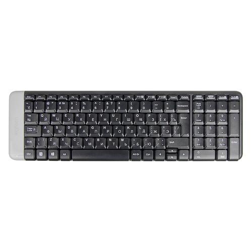 Клавиатура LOGITECH K230, USB, Радиоканал, черный [920-003348] клавиатура logitech k230 usb черный 920 003348