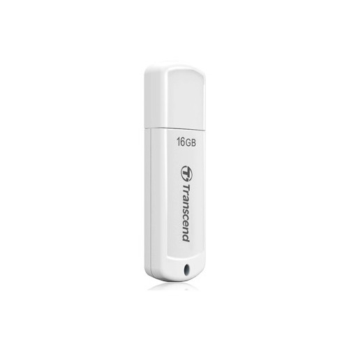 Флешка USB TRANSCEND Jetflash 370 16ГБ, USB2.0, белый [ts16gjf370]