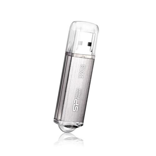 Фото - Флешка USB SILICON POWER Ultima II-I Series 32Гб, USB2.0, серебристый [sp032gbuf2m01v1s] флешка usb 8gb silicon power lux mini series 320 sp008gbuf2320v1w белый