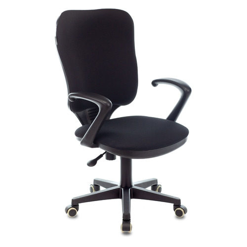 Кресло БЮРОКРАТ Ch-540AXSN, на колесиках, ткань, черный [ch-540axsn/26-28] кресло бюрократ ch 540axsn low на колесиках ткань серый [ch 540axsn low 26 25]