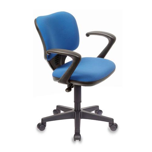 Кресло БЮРОКРАТ Ch-540AXSN-Low, на колесиках, ткань, синий [ch-540axsn-low/26-21] кресло бюрократ ch 540axsn low на колесиках ткань серый [ch 540axsn low 26 25]