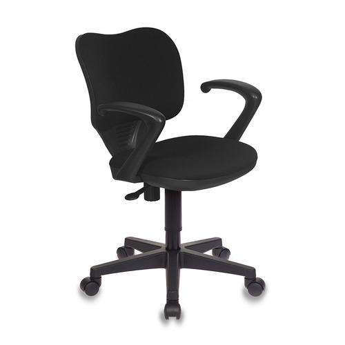 Кресло БЮРОКРАТ Ch-540AXSN-Low, на колесиках, ткань, черный [ch-540axsn-low/26-28] кресло бюрократ ch 540axsn low на колесиках ткань серый [ch 540axsn low 26 25]