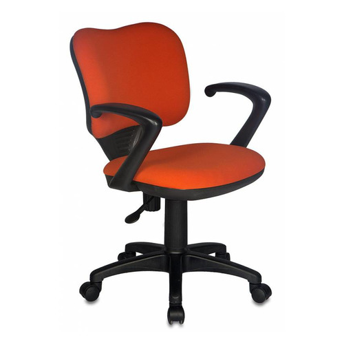 Кресло БЮРОКРАТ Ch-540AXSN-Low, на колесиках, ткань, оранжевый [ch-540axsn-low/26291] кресло бюрократ ch 540axsn low на колесиках ткань серый [ch 540axsn low 26 25]