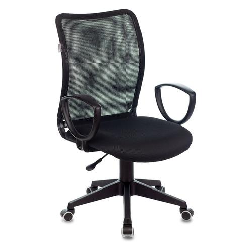 Фото - Кресло Бюрократ Ch-599AXSN, на колесиках, сетка/ткань, черный [ch-599axsn/tw-11] кресло бюрократ ch 296nx на колесиках сетка ткань бордовый [ch 296 dc 15 11]
