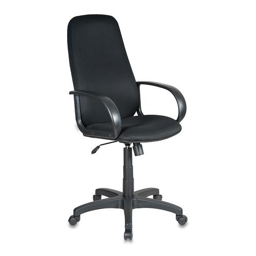Кресло руководителя БЮРОКРАТ Ch-808AXSN, на колесиках, ткань, черный [ch-808axsn/tw-11] кресло руководителя бюрократ ch 808axsn на колесиках ткань темно серый [ch 808axsn g]