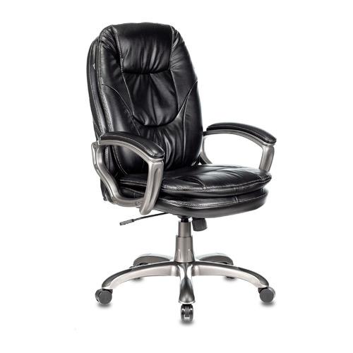Кресло руководителя БЮРОКРАТ Ch-868AXSN, на колесиках, искусственная кожа, черный [ch-868axsn/black] кресло руководителя бюрократ ch 993mb на колесиках искусственная кожа черный [ch 993mb black]