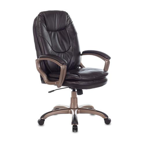 Кресло руководителя БЮРОКРАТ Ch-868AXSN, на колесиках, искусственная кожа, темно-коричневый [ch-868yaxsn/coffee] кресло руководителя бюрократ ch 879dg brown коричневый искусственная кожа пластик темно серый