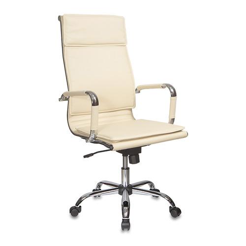 Кресло руководителя БЮРОКРАТ Ch-993, на колесиках, искусственная кожа, слоновая кость [ch-993/ivory]