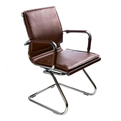 Фото - Кресло БЮРОКРАТ Ch-993-Low-V, на полозьях, искусственная кожа, коричневый [ch-993-low-v/brown] кресло бюрократ ch 993 low v ivory