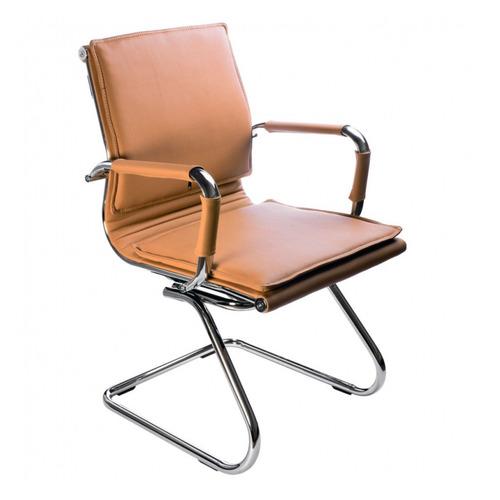 Фото - Кресло БЮРОКРАТ Ch-993-Low-V, на полозьях, искусственная кожа, светло-коричневый [ch-993-low-v/camel] кресло бюрократ ch 993 low v ivory