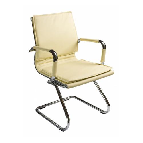 Фото - Кресло БЮРОКРАТ Ch-993-Low-V, на полозьях, искусственная кожа, слоновая кость [ch-993-low-v/ivory] кресло бюрократ ch 993 low v ivory