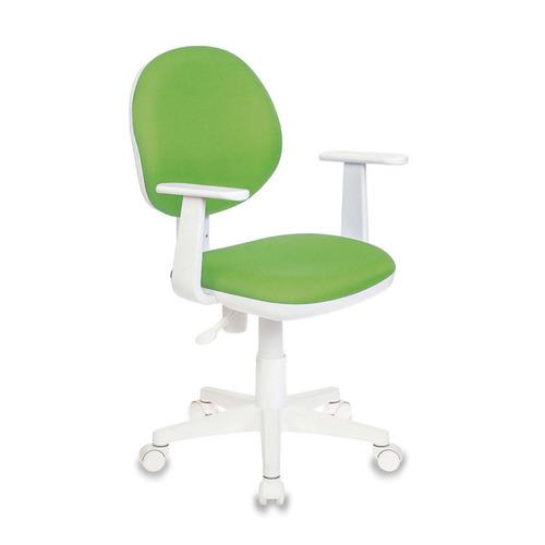 Кресло детское БЮРОКРАТ Ch-W356AXSN, на колесиках, ткань, салатовый [ch-w356axsn/15-118] кресло компьютерное детское бюрократ ch w356axsn 15 107