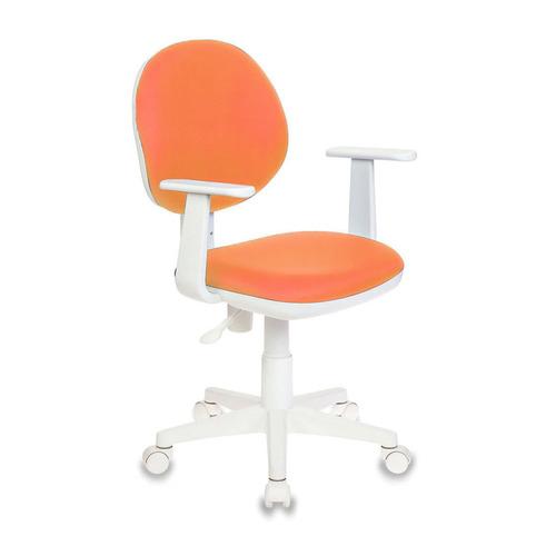 Кресло детское БЮРОКРАТ Ch-W356AXSN, на колесиках, ткань, оранжевый [ch-w356axsn/15-75] кресло компьютерное детское бюрократ ch w356axsn 15 107