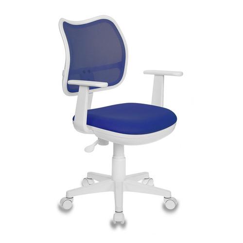 купить Кресло детское БЮРОКРАТ Ch-W797, на колесиках, ткань, синий [ch-w797/bl/tw-10] дешево