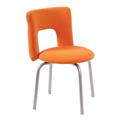 Стул БЮРОКРАТ KF-1, на ножках, ткань, оранжевый [kf-1/orange26-29-1]