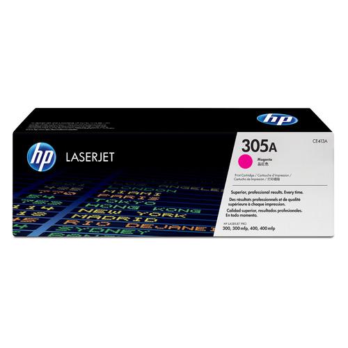 Картридж HP 305A, пурпурный [ce413a] картридж hp 305a голубой пурпурный желтый для лазерного принтера