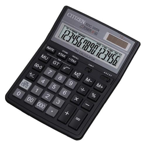 Калькулятор CITIZEN SDC-395 N, 16-разрядный, черный калькулятор citizen sdc 395n sdc 395 n