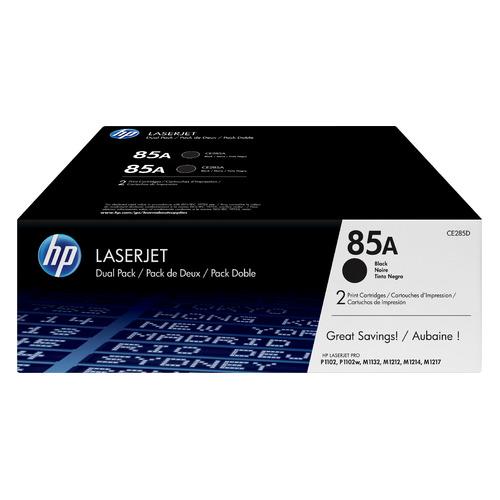 цена на Картридж (двойная упаковка) HP 85A, черный [ce285af]