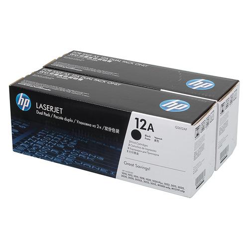 Картридж (двойная упаковка) HP Q2612AF, черный hp 12а black q2612af