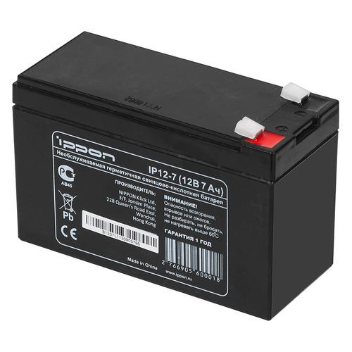 Батарея для ИБП IPPON IP12-7 12В, 7Ач батарея для ибп apc rbc2 12в 7ач