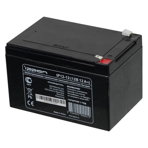 батарея ippon ip12 12 12v 12ah Аккумуляторная батарея для ИБП Ippon IP12-12 12В, 12Ач