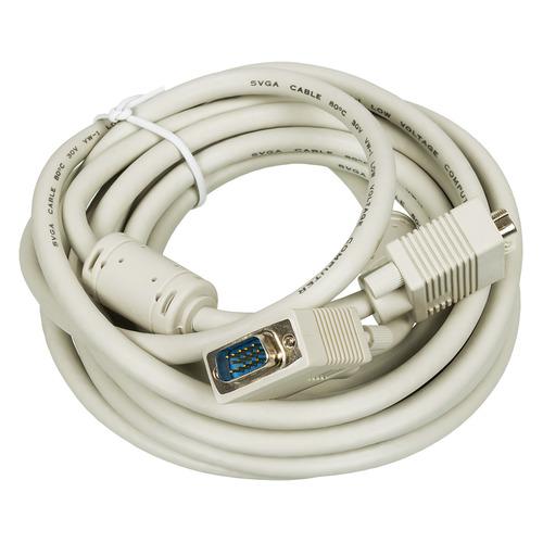 Фото - Кабель VGA DB15 (m) - DB15 (m), ферритовый фильтр , 5м [cable1] кабель удлинитель vga hama h 41955 vga m vga m ферритовый фильтр 5м черный [00041955]