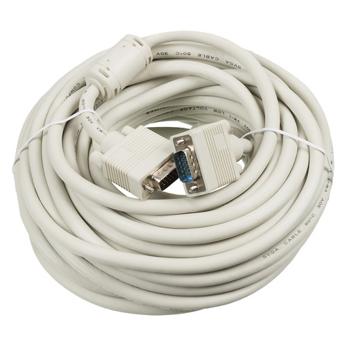 цена на Кабель VGA DB15 (m) - DB15 (m), ферритовый фильтр , 15м, серый [cable15]