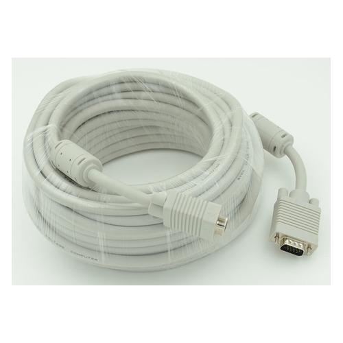 Фото - Кабель VGA DB15 (m) - DB15 (m), ферритовый фильтр , 30м, белый [cable30] кабель