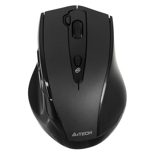 Мышь A4 V-Track G10-810F, оптическая, беспроводная, USB, черный мышь a4 v track g10 770f черный