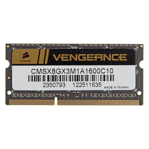 Модуль памяти CORSAIR CMSX8GX3M1A1600C10 DDR3 - 8Гб 1600, SO-DIMM, Ret все цены
