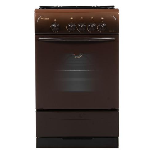 Газовая плита GEFEST ПГ 3200-08 К19, газовая духовка, коричневый газовая плита gefest 3200 08 к19