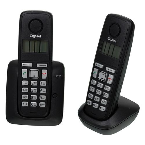 Радиотелефон GIGASET A120 Duo, черный gigaset a130 page 2