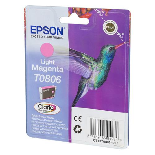 Картридж EPSON T0806, светло-пурпурный [c13t08064011] цена и фото