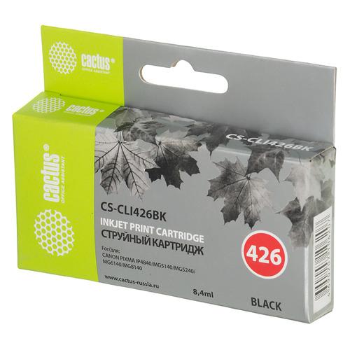 Картридж CACTUS CS-CLI426BK, черный картридж cactus cs pgi425bk для canon pixma ip4840 mg5140 5240 6140 8140 mx884 черный