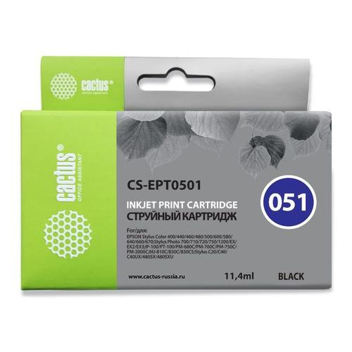 Картридж CACTUS CS-EPT0501 черный  - купить со скидкой