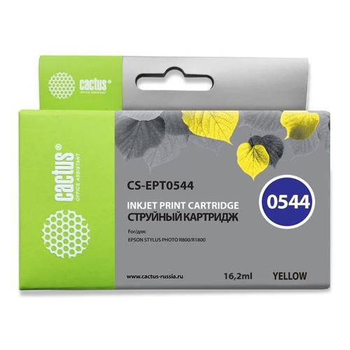 Картридж CACTUS CS-EPT0544, желтый картридж cactus cs c711y желтый