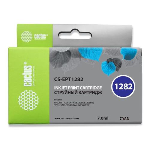 Картридж CACTUS CS-EPT1282, голубой