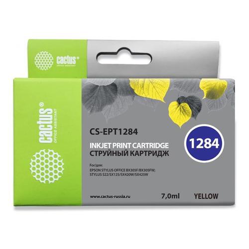 Картридж CACTUS CS-EPT1284, желтый