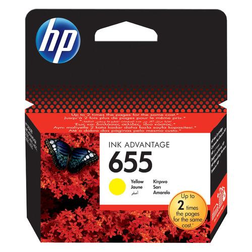 Картридж HP 655, желтый [cz112ae] картридж inko hp 655 желтый