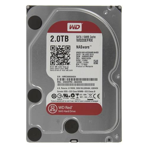 Жесткий диск WD Red WD20EFRX, 2Тб, HDD, SATA III, 3.5 жесткий диск wd blue wd10ezrz 1тб hdd sata iii 3 5