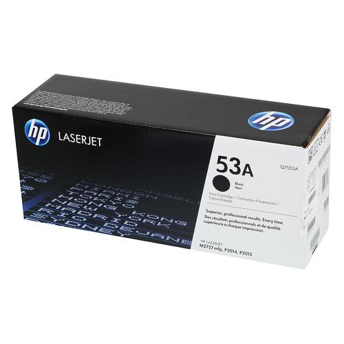 Картридж HP 53A, черный [q7553a] картридж nv print q5949a q7553a для hp lj 1160 1320 3390 p2014 p2015 m2727mfp черный 3000стр