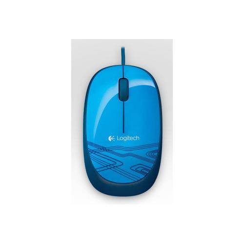 Мышь LOGITECH M105, оптическая, проводная, USB, синий [910-003114]