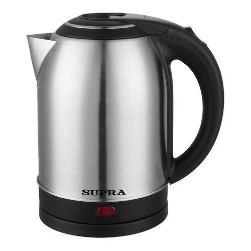 Фото - Чайник электрический SUPRA KES-2001, 1500Вт, серебристый и черный чайник электрический supra kes 1893 1500вт белый