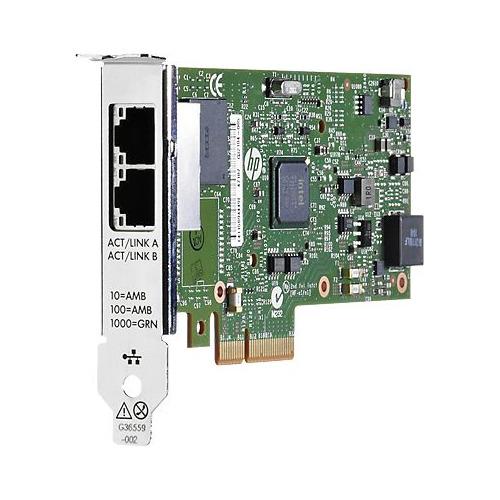 Адаптер HPE Ethernet 1Gb 2P 361T (652497-B21) адаптер hp dl360 gen9 2p lp pcie slot cpu2 kit 764642 b21