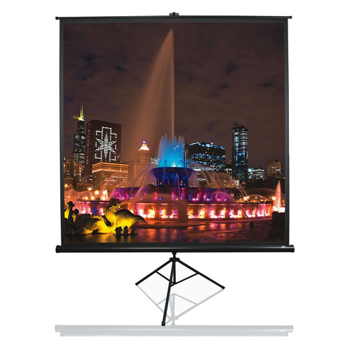 Экран ELITE SCREENS Tripod T85UWS1, 152х152 см, 1:1, напольный черный экран напольный elite screens t113nws1 113 1 1 203x203cm тринога mw белый