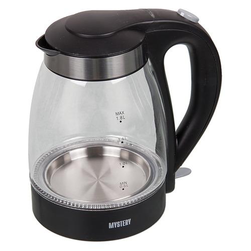 Чайник электрический MYSTERY MEK-1627, 2000Вт, черный